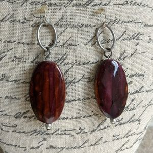 5 for $25 sale Silver and resin bead hook earrings